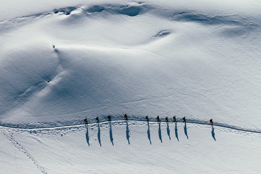 backcountry skiing group alpine touring