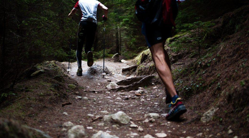 mountain running uphill athlete